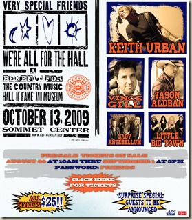 """Keith Urban announces """"All For the Hall"""" concert in Nashville"""