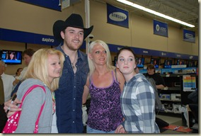 Chris Young entertains fans at Bristol Walmart