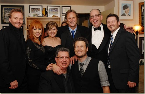 reba mcentire and husband narvel blackstock. (Back from L to R): Narvel