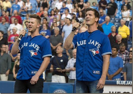 Curtis and Brad Blue Jays anthem