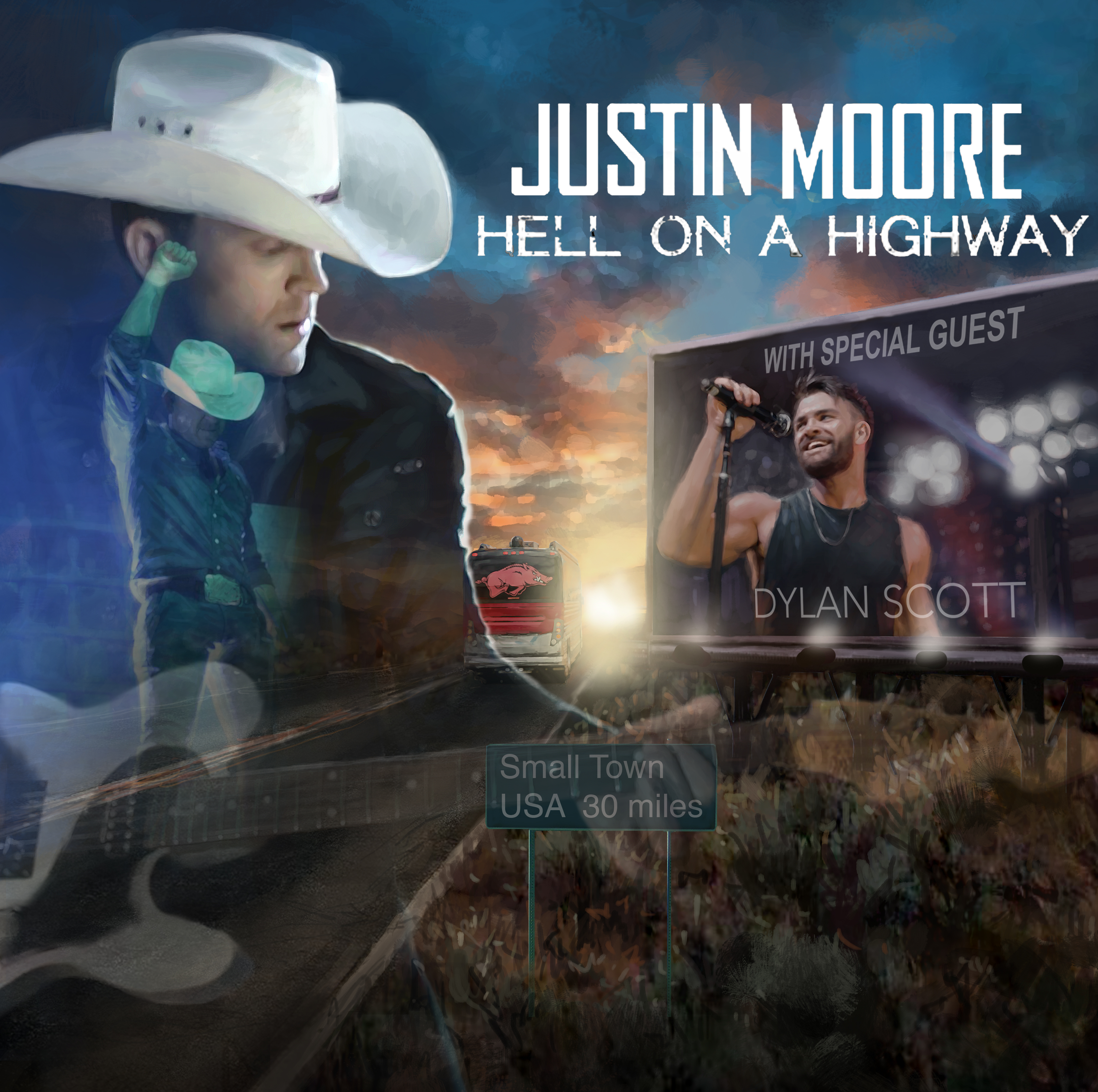 """Justin Moore kicks off """"Hell On A Highway Tour""""Friday, October 13"""