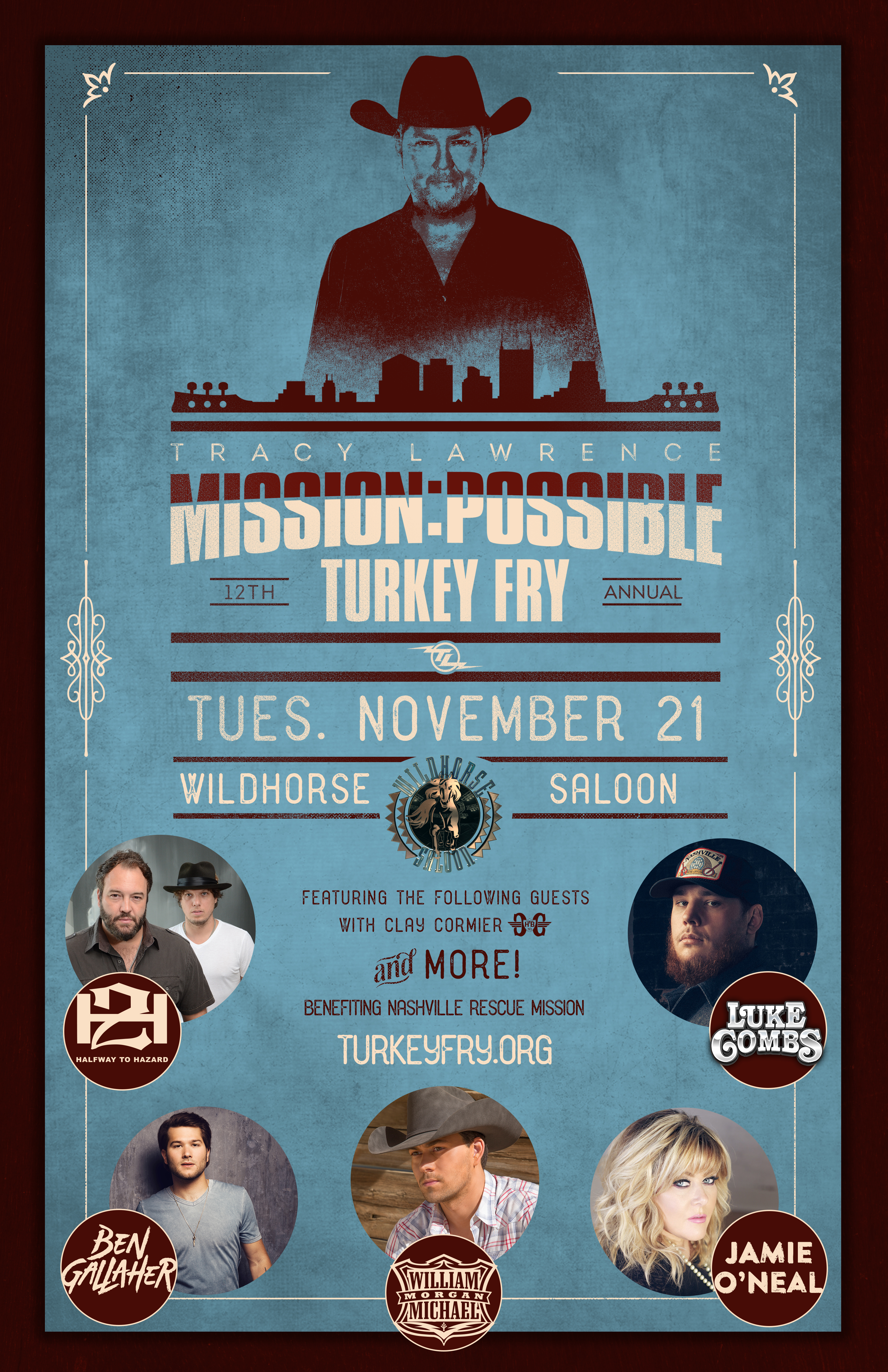 Line-Up announced for 3rd Annual Tracy Lawrence & Friends Mission:Possible Turkey Fry Concert