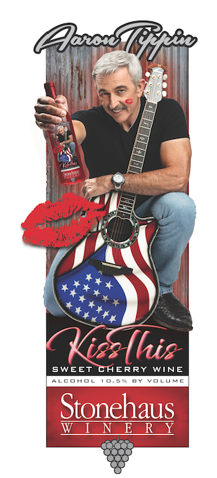 "Aaron Tippin tips back with new ""Kiss This"" Sweet Cherry Wine"