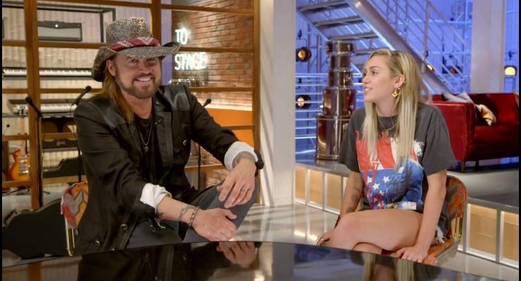 "Billy Ray Cyrus appears on ""CBS Sunday Morning"" with daughter Miley"