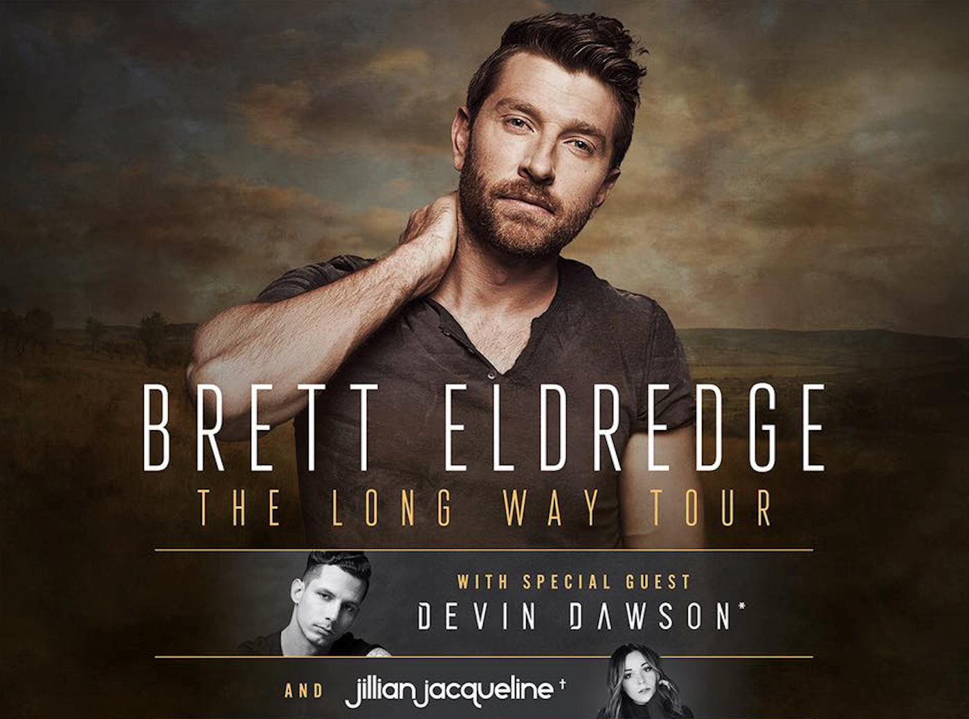 Brett Eldredge announces first headlining tour for 2018