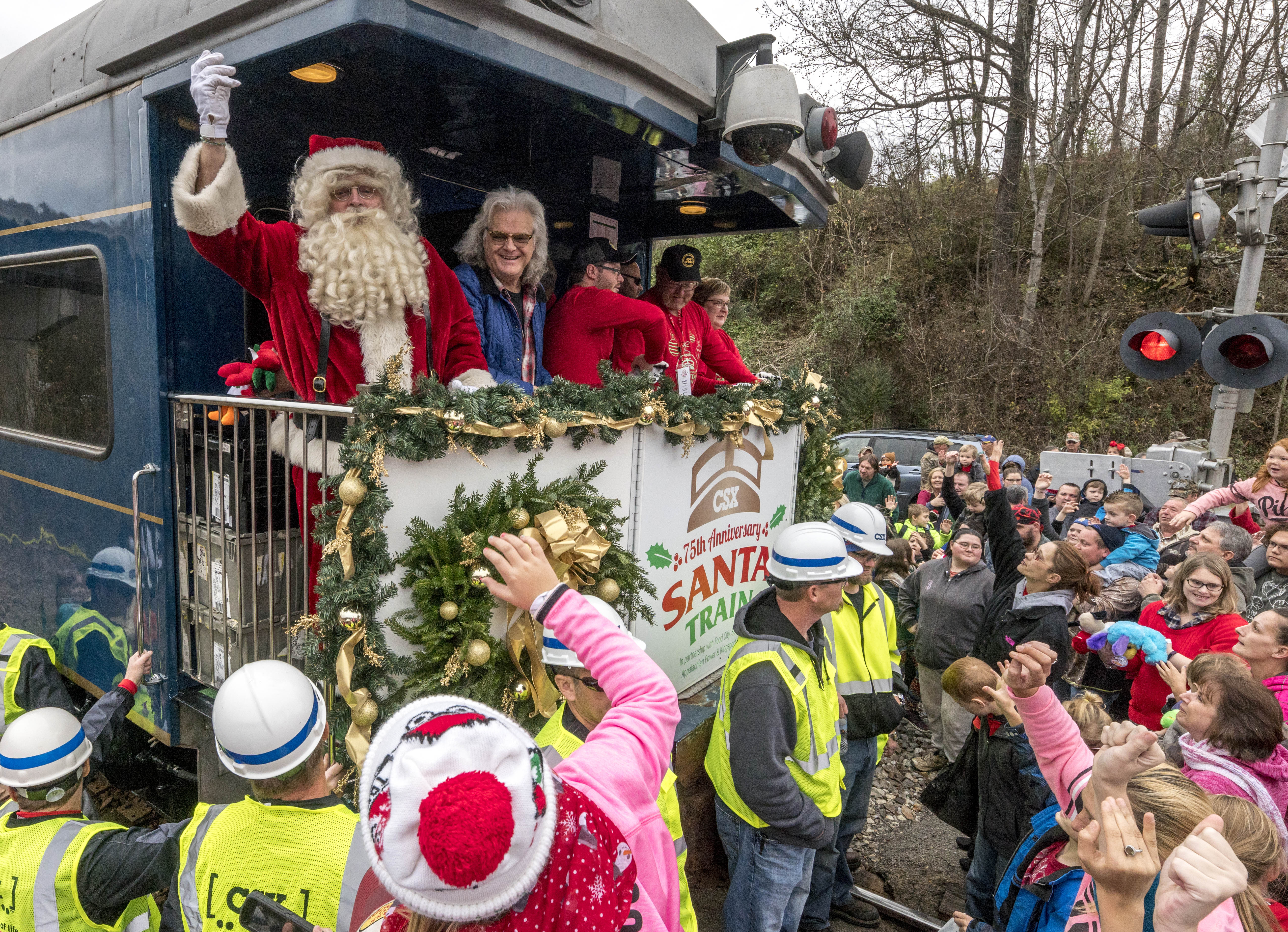 Ricky Skaggs takes part in 75th Annual run of The Santa Train