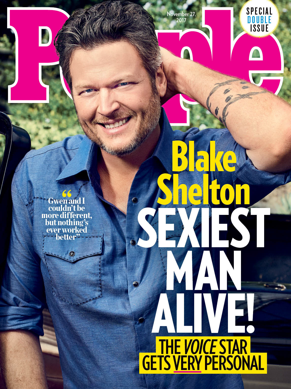 People Magazine's Sexiest Man Alive 2017:  Blake Shelton