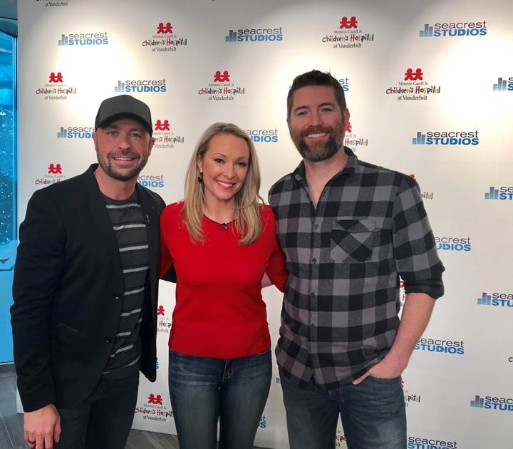 Josh Turner joins Cody Alan and Katie Cook at Monroe Carell Jr. Children's Hospital at Vanderbilt